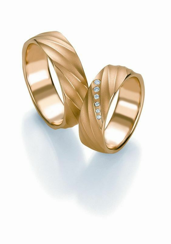 Trauringe Breuning Design Collection 5245/5246 in 585 Gold 14 kt