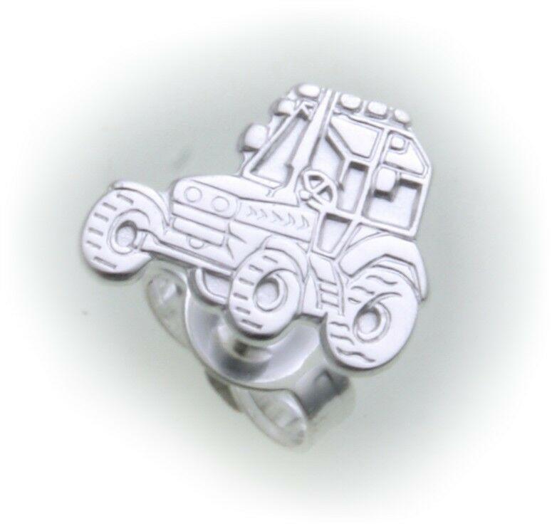 Ohrringe Stecker Traktor Silber 925 Bulldog Ohrstecker Sterlingsilber Unisex