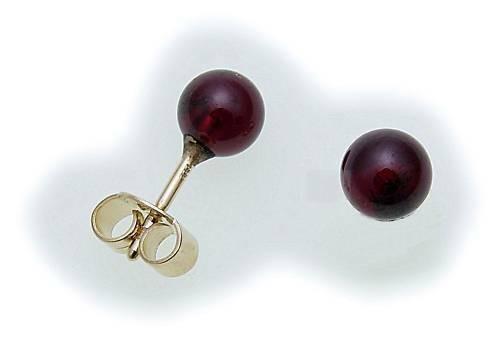 Damen Ohrringe Granat echt Gold 333 Gelbgold Ohrstecker Stecker 6129/3GR