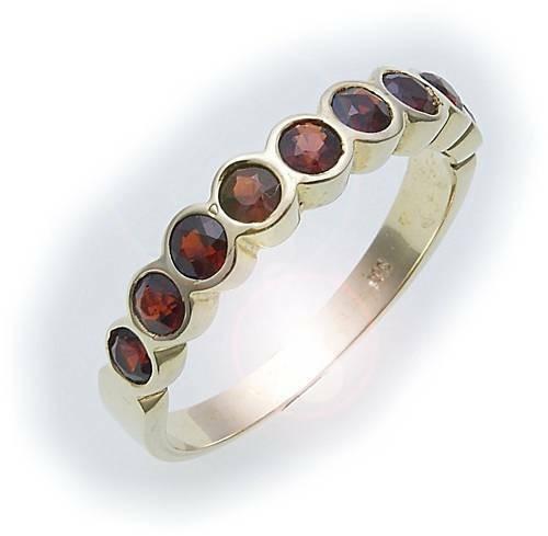 Damen Ring m. Granat in Gold 585 Gelbgold Granatring alle Weiten 8395/5GR