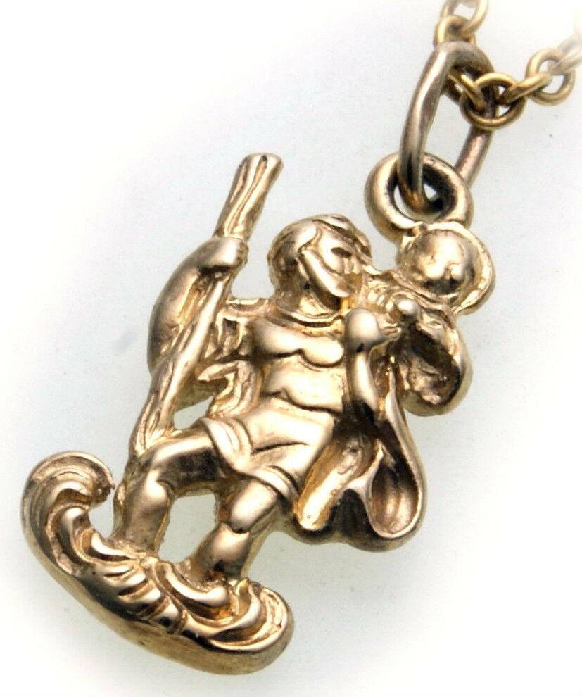 Anhänger Christophorus Gold 585 plastisch Gelbgold Jesus Christopherus Unisex