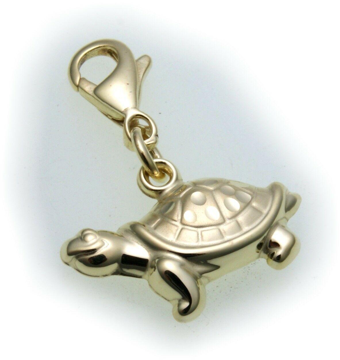 Neu Anhänger Charm Schildkröte Gold 333 Einhänger Gelbgold Unisex Top Qualität