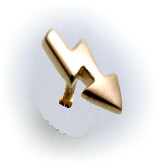 Piercing Nase Blitz echt Gold 333 Nasenstecker