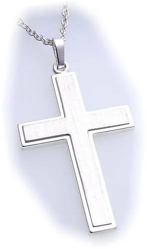 Anhänger Kreuz echt Silber 925 40 mm massiv Sterlingsilber Unisex Qualität