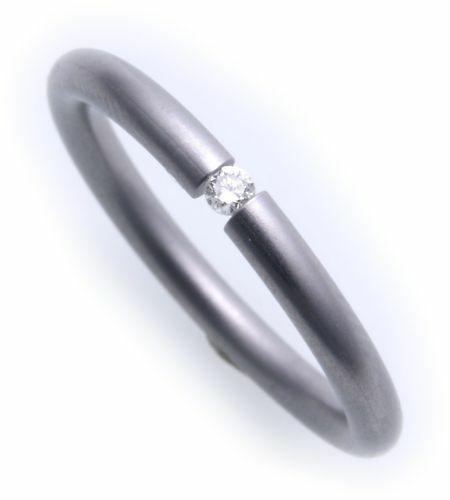 Damenring Ring Edelstahl Brillant 0,05ct Spannring