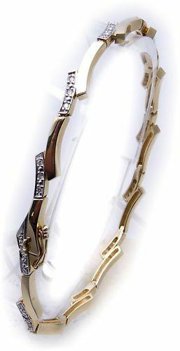 exklusives Damen Armband mit Brillant 0,17ct echt Gold 585 Diamant Gelbgold