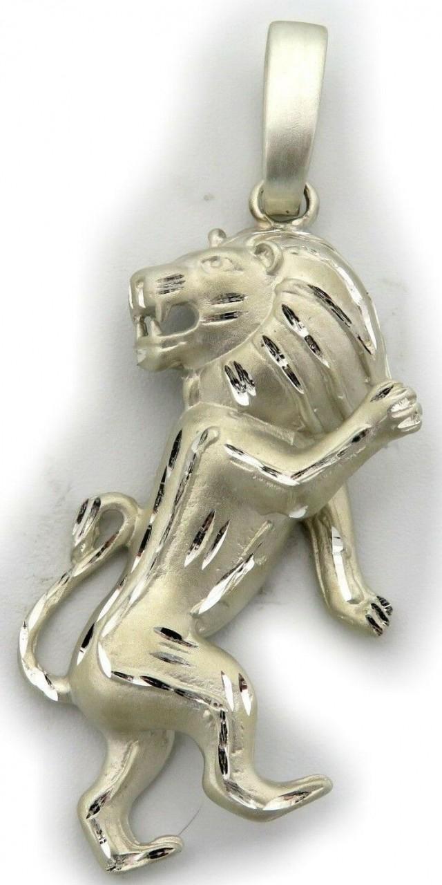 Anhänger XXL Sternzeichen Löwe diam. sehr groß Silber 925 Sterling Qualität