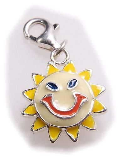 Charm lachende Sonne echt Silber 925 Bettelarmband Sterlingsilber Qualität