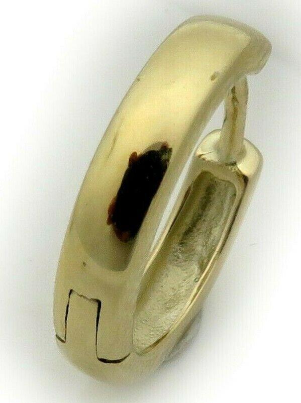 Herren Ohrring Single Klapp Creole echt Gold 750 schwer 14 mm Gelbgold 18 karat