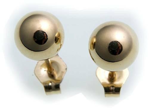 Damen Ohrringe Stecker Kugel Gold 375 Gelbgold Ohrstecker Qualität