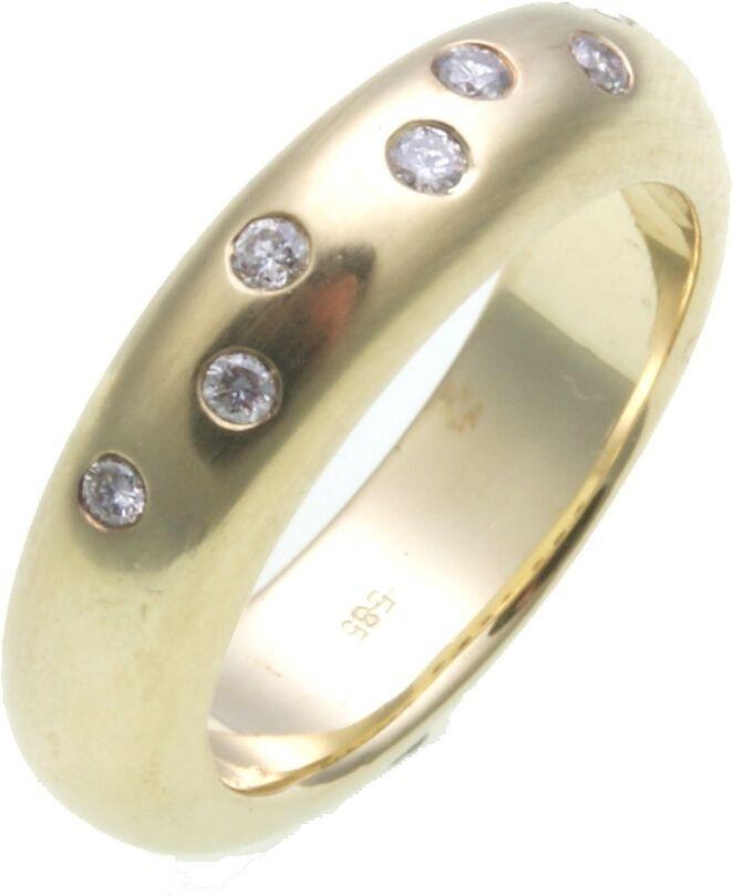Damen Ring Brillant 0,14 ct. Gold 585/- massive Qualität Gelbgold SI Diamant