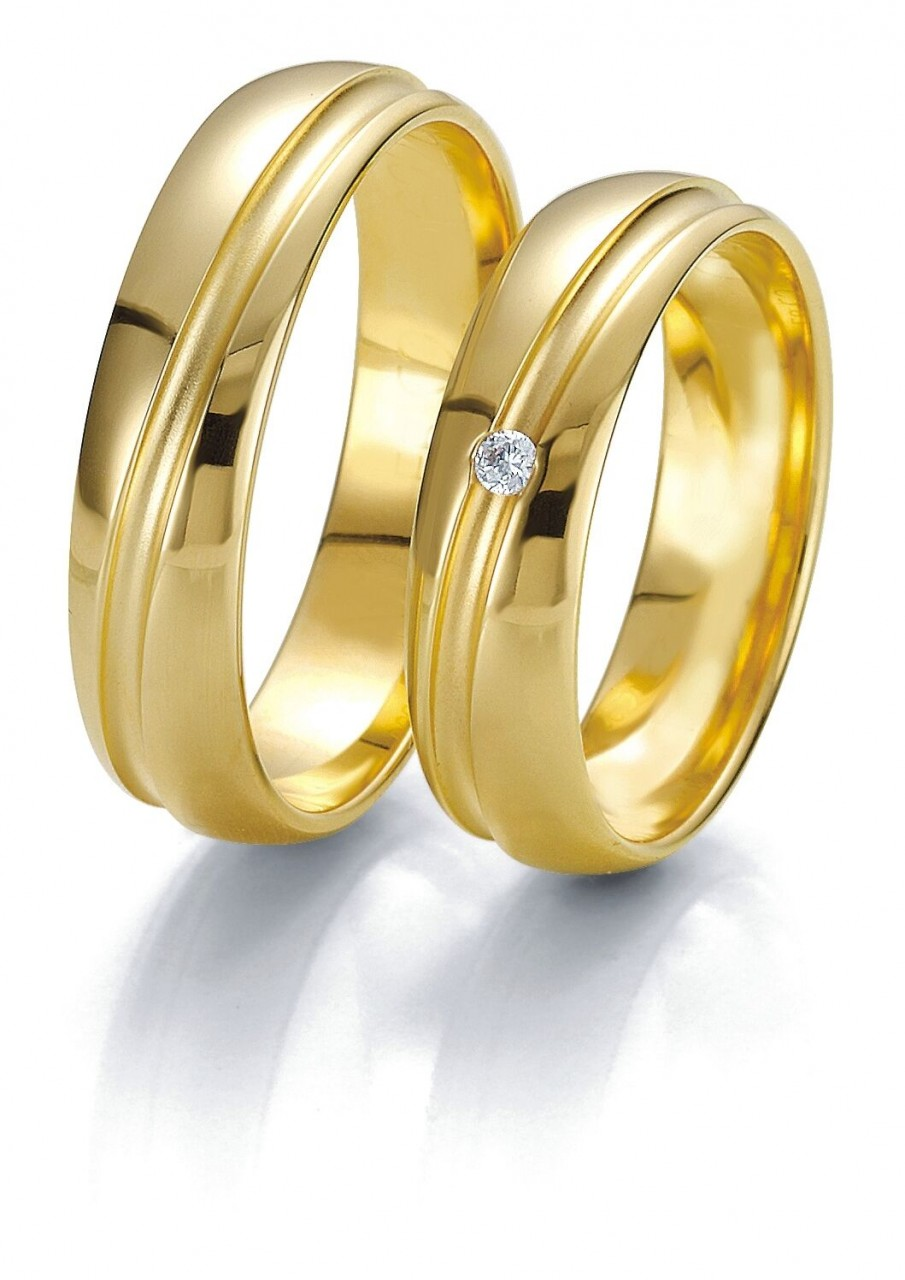 Trauringe Breuning Rainbow Collection 6221/6222 in 585 Gold gelb 14 kt