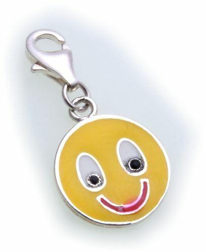 Charm Smiley echt Silber 925 Bettelarmband Charms Sterlingsilber Qualität