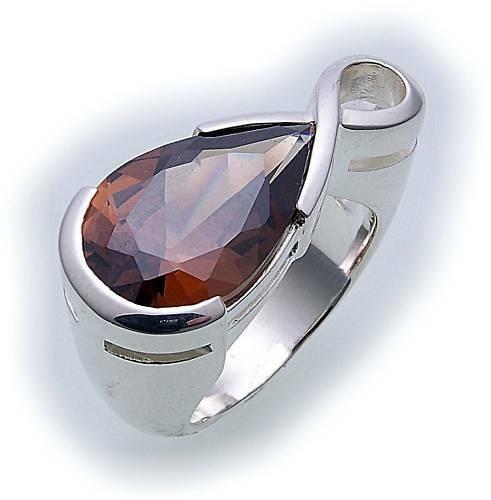 Damen Ring in Silber 925 mit Zirkonia Sterlingsilber Qualität