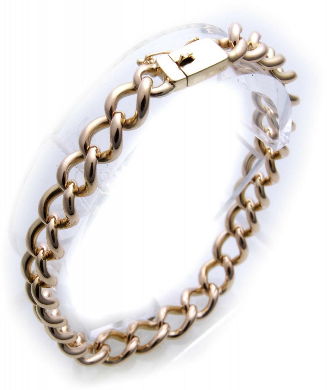 Sonderpreis schweres Armband Panzerkette echt Gold 585 14kt Gelbgold Damen