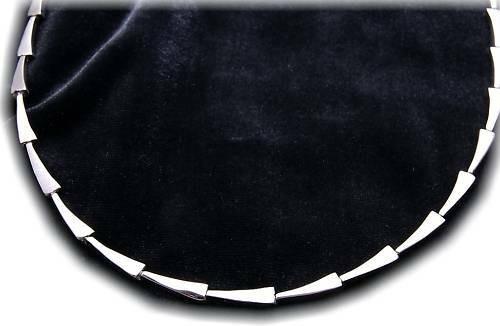 Damen Halskette Collier echt Silber 925 teilmatt. rhod. Sterlingsilber Halskette