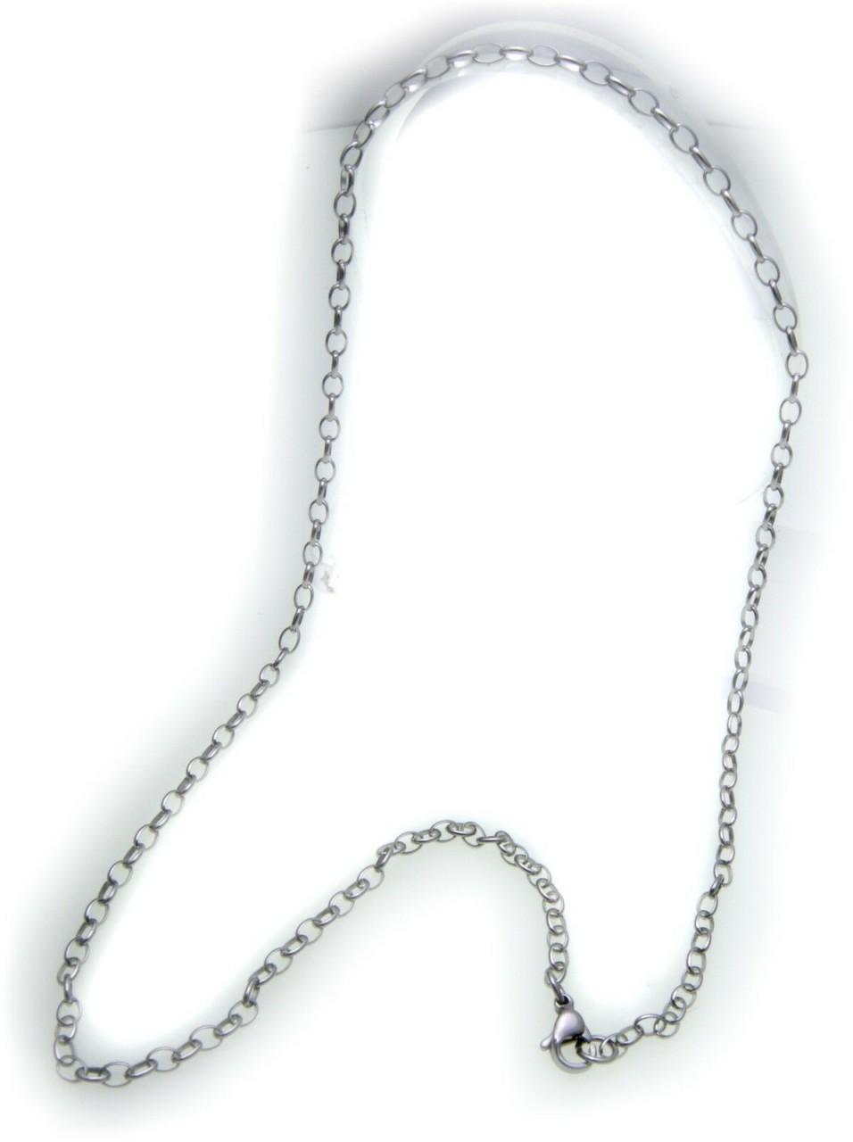 Kette Ankerkette aus Edelstahl 3,0 mm 45 cm Stahl Stahlkette