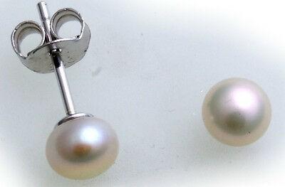 Damen Ohrringe Stecker Perlen 5-9 mm echt Silber 925 Sterlingsilber Ohrstecker