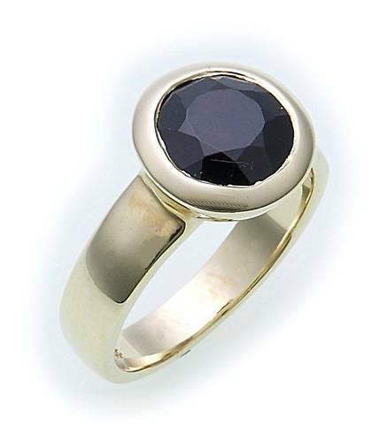 Damen Ring m. Granat in Gold 585 Granatring Gelbgold Qualität 8555/5GR
