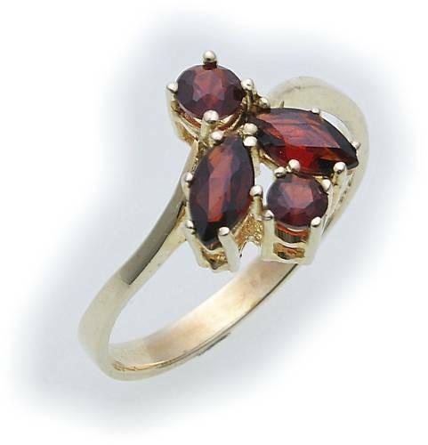 Damen Ring m. Granat in Gold 333 Granatring Gelbgold Qualität 8303/3GR