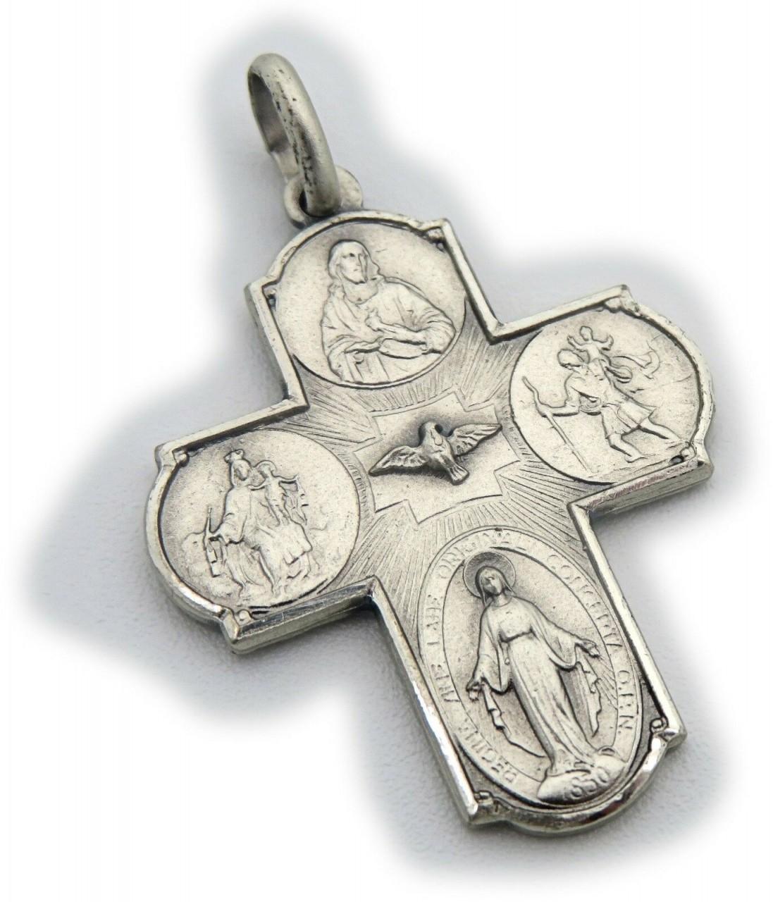 Neu Anhänger Kreuz echt Silber 925 Jesus Figur mit Kette oder ohne Christophorus