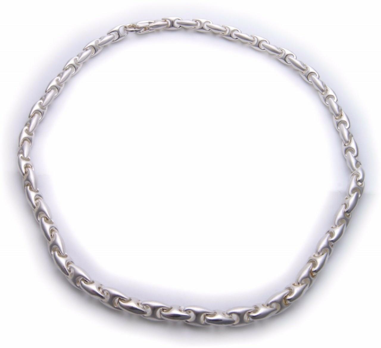 Damen Collier in Silber 925 massiv 45 cm teilmattiert Sterlingsilber Halskette