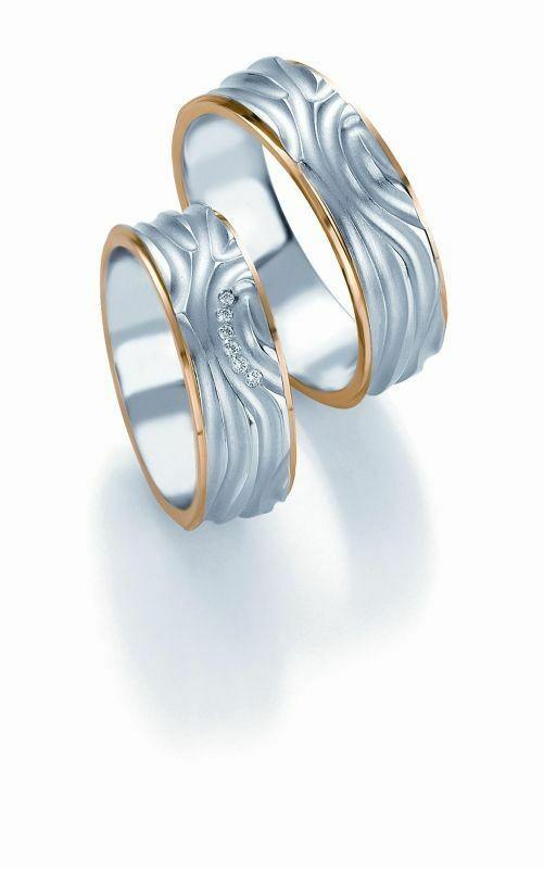 Trauringe Breuning Design Collection 5243/5244 in 585 Gold Bicolor 14 kt