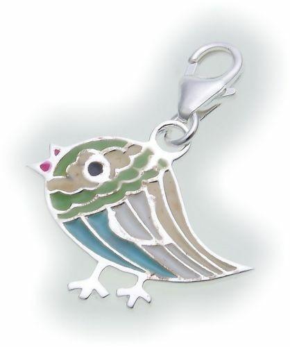 Charm Anhänger Paisley echt Silber 925 Vogel Peace Sterlingsilber Qualität