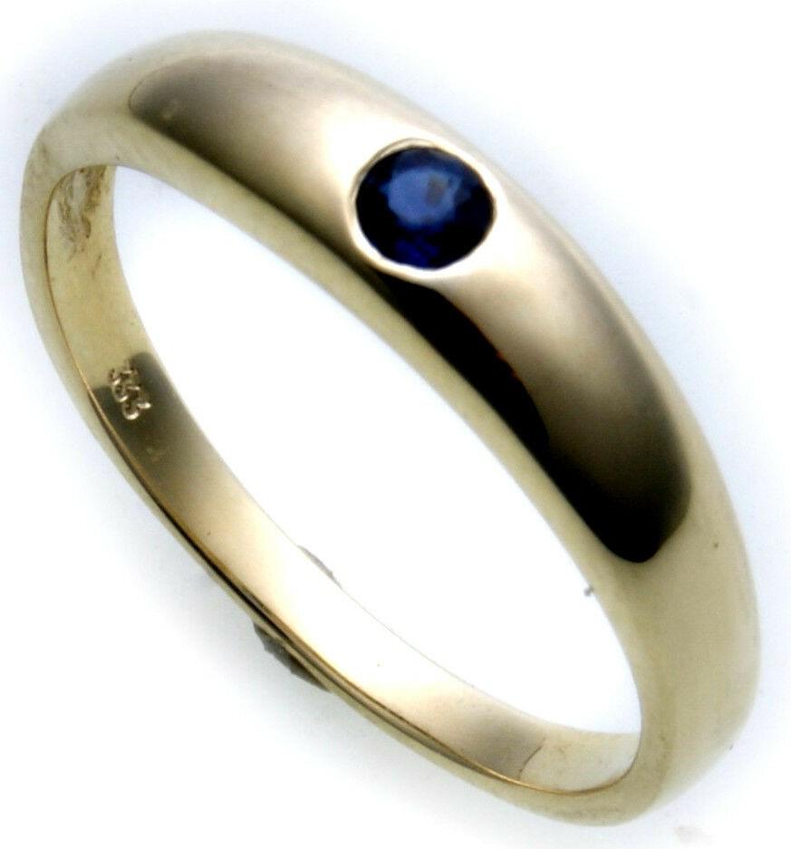 Damen Ring echt Gold 750 Safir 18 karat Juwelierqualität Saphir Gelbgold Neu