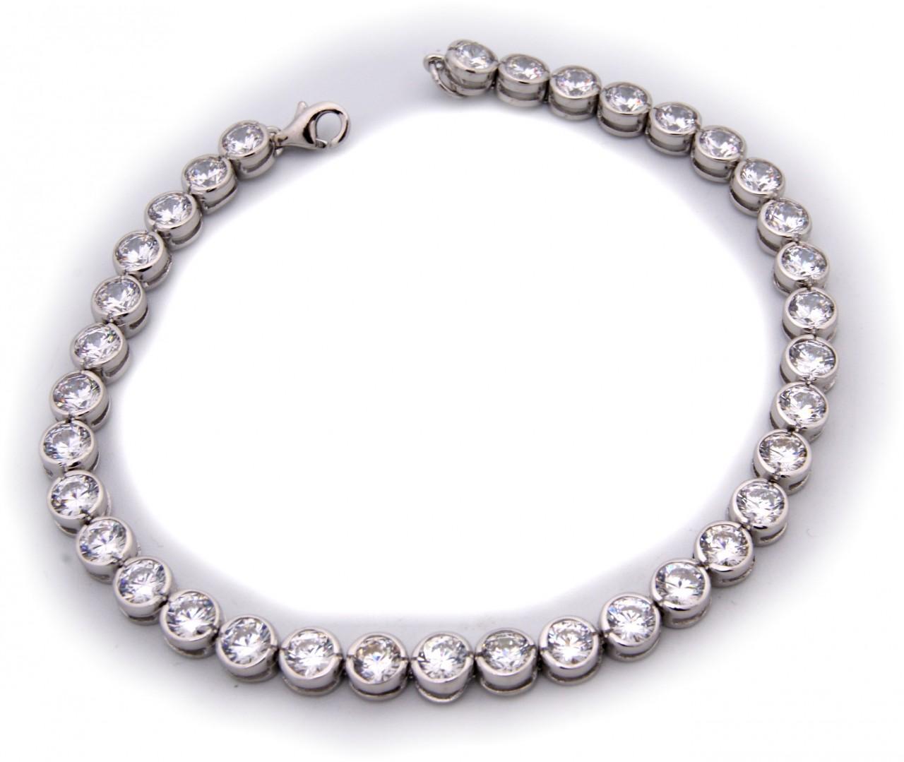 Damen Tennis Armband echt Silber 925 Zirkonia 5,7 mm breit Sterlingsilber Neu