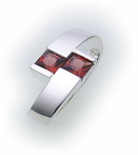 Anhänger m. Granat in Silber 925 Granatanhänger matt Sterlingsilber 1270/8GR