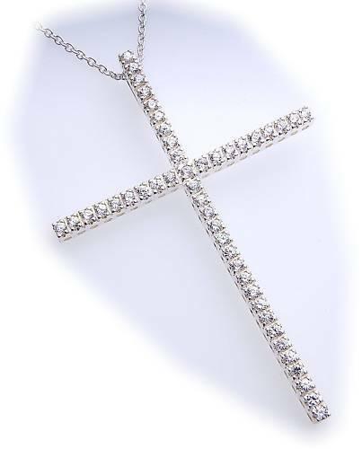 Anhänger Kreuz Zirkonia echt Silber 925 XXL 70 mm groß Sterlingsilber Qualität