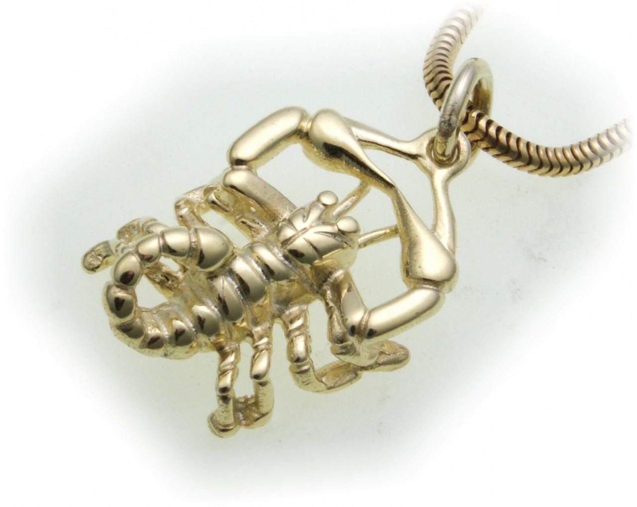 Anhänger Sternzeichen Skorpion echt Gold 333 massiv 8kt Tierkreiszeichen