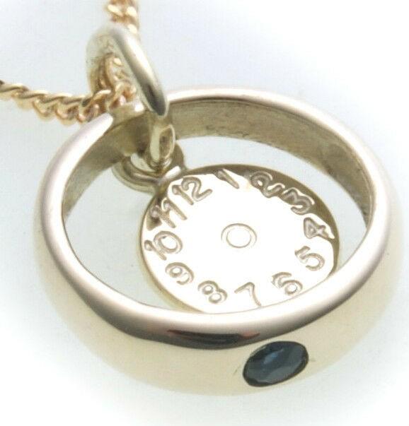 Set Taufring mit Uhr & Kette Saphir echt 585 Gold Safir Taufe Baby Qualität Neu