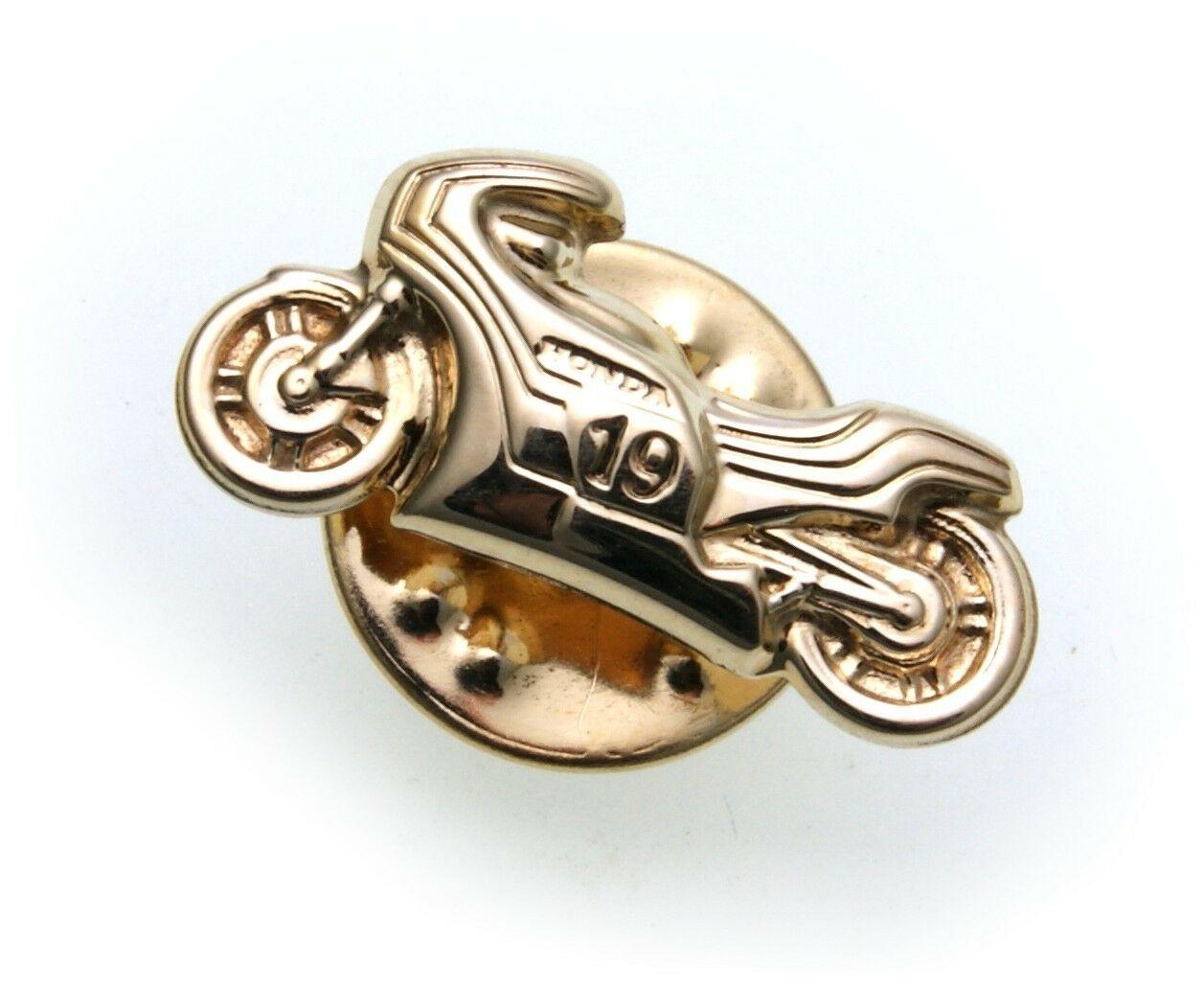 Anstecker Motorrad detailgetreu 333 Gold Stickpin Gelbgold Anstecknadel