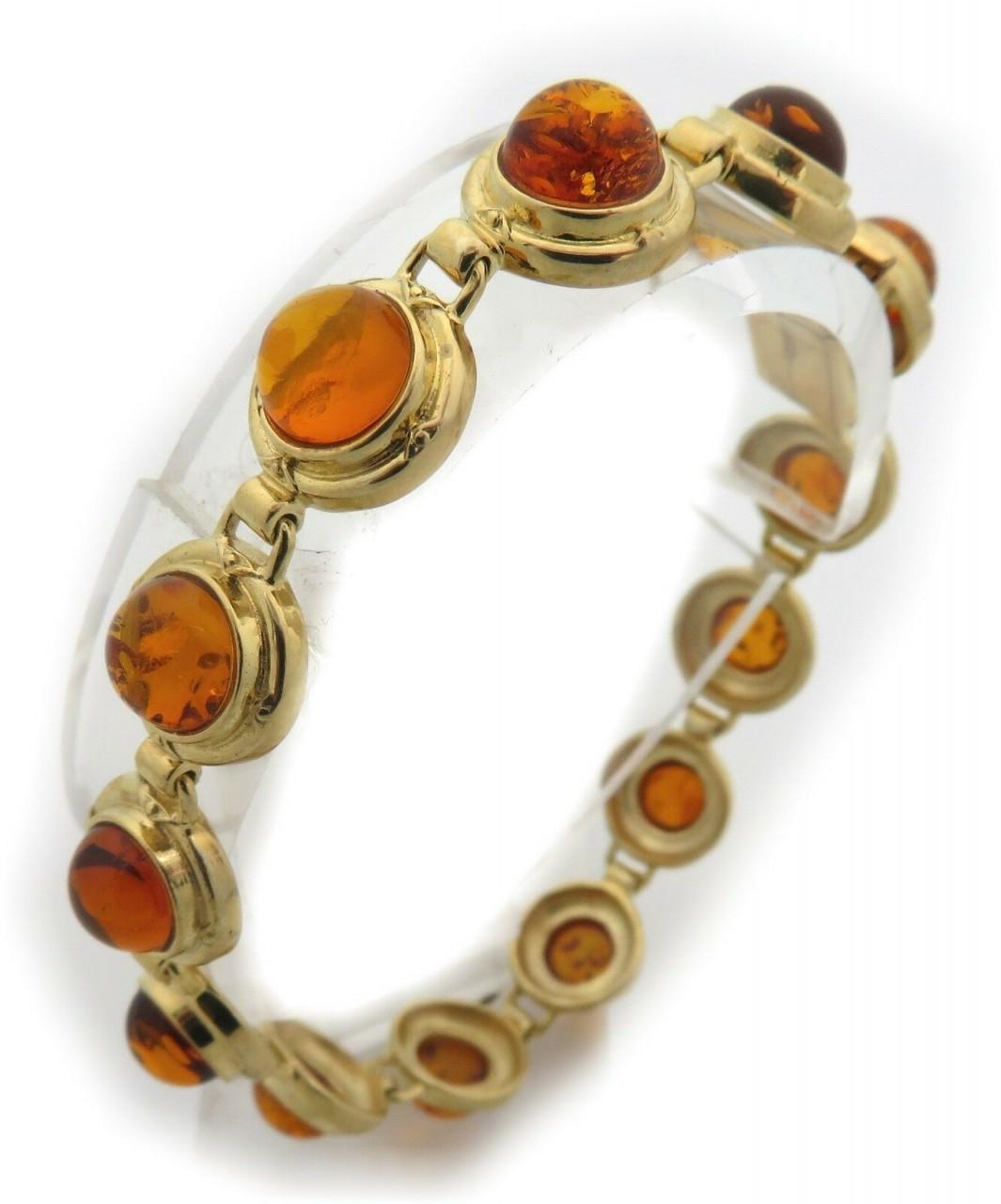 Armband echt Bernstein in echt Gold 585 14kt Bernsteinarmband Gelbgold Qualität