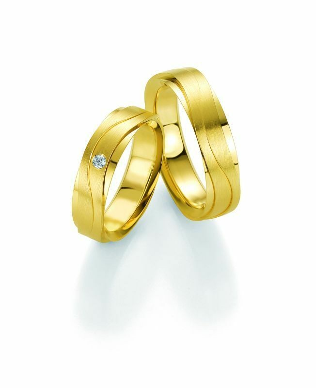 Trauringe Breuning Design Collection 5255/5256 in 585 Gold 14 kt