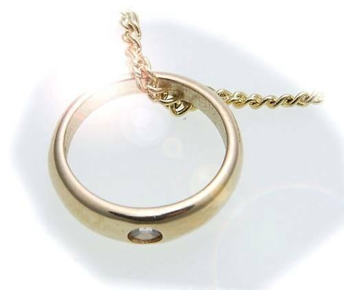 Taufring Zirkonia 585 Gold zur Taufe poliert ohne Kette Gelbgold Kinder