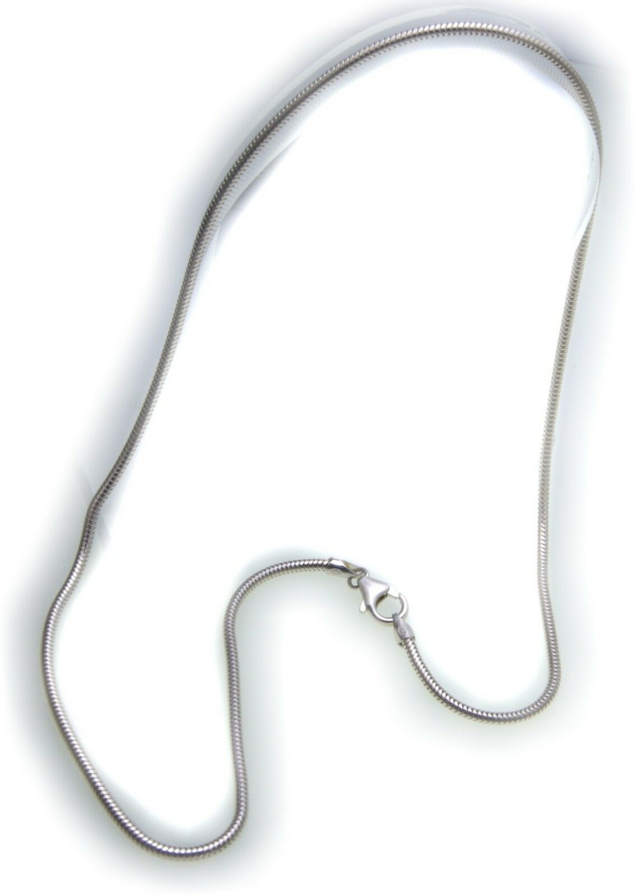 Schlangenkette in echt Silber 925 2,0 mm 40 42 45 50 cm Sterlingsilber