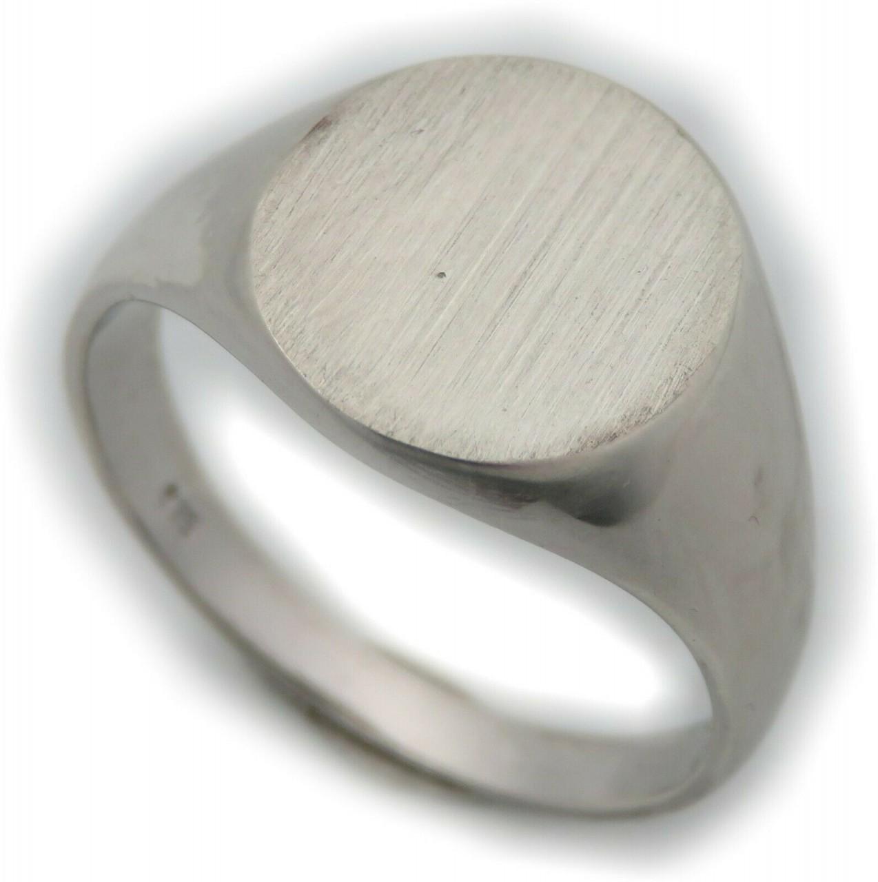 Neu Herren Ring Silber 925 mit Monogrammgravur Sterlingsilber Oval Siegelring