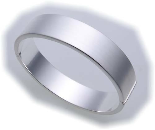 Damen Armreif echt Silber 925 Armschmuck mattiert Sterlingsilber Qualität Neu