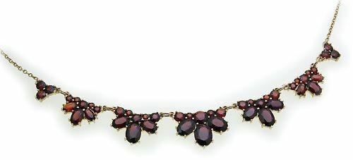 Collier Granat echt Silber 925 Halsschmuck Sterlingsilber Halskette Damen 4928/8