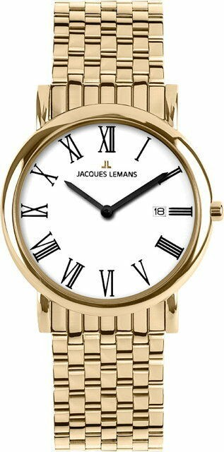 Jacques Lemans Vienna Herren Damen Uhr Classic 1-1370 O Edelstahl Datumsanzeige
