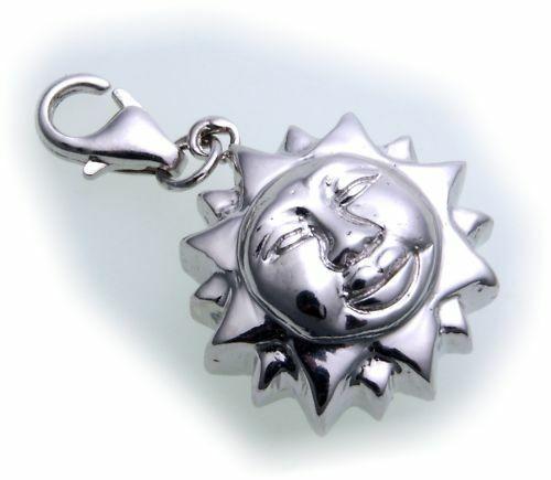 Charm Sonne echt Silber 925 Bettelarmband Charms Sterlingsilber Qualität