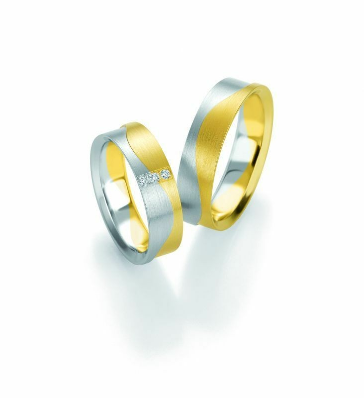 Trauringe Breuning Design Collection 5251/5252 in 585 Gold Bicolor 14 kt