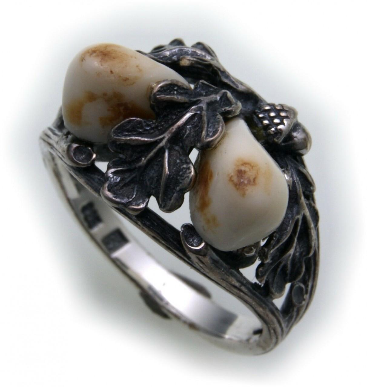 Grandel Ring echt Silber 925 Jagdschmuck Grandelschmuck Grandelring 2