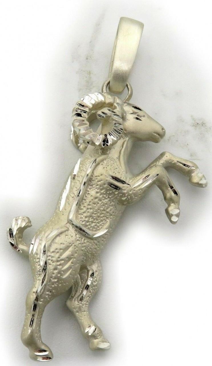 Anhänger XXL Sternzeichen Widder diamant sehr groß Silber 925 Sterling Qualität