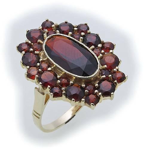 Damen Ring m. Granat in Silber 925 Granatring Sterlingsilber Qualität 8020/8GR