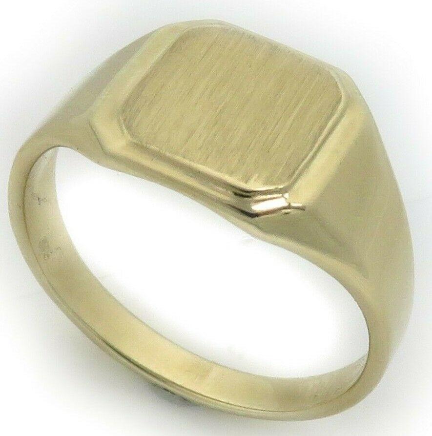 Neu Herren Ring echt Gold 750 mit Monogrammgravur Gelbgold Qualität 18 karat Top