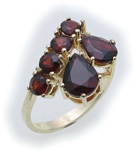 Damen Ring m. Granat in Gold 585 Granatring Gelbgold Qualität 8304/5GR